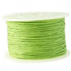 Coton ciré vert pomme clair 1mm / 1M
