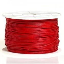 Coton ciré rouge 3mm / 1M