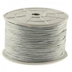 Coton ciré gris clair 2mm / 1M