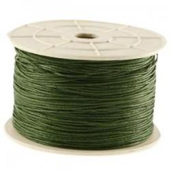 Coton ciré vert chasseur 1mm / 1M