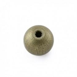Perle en bois 10mm doré
