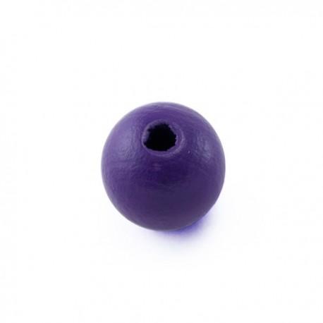 Perle en bois 10mm violet