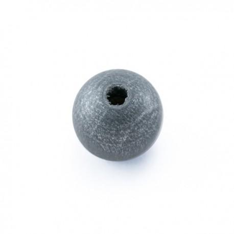 Perle en bois 10mm argent