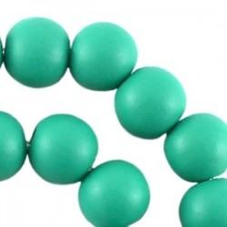 Perle en bois 12mm turquoise Fluo