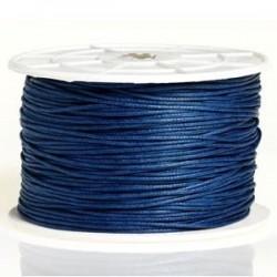 Coton ciré bleu 3mm / 1M