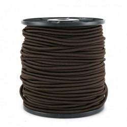 Cordon élastique 3mm Brun /10 cm