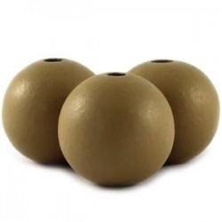 Perle en bois 12mm camel