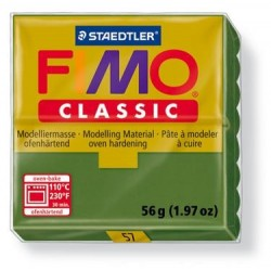 Pâte Fimo Classic 56gr Vert Feuille 57