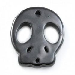 Tête de mort céramique noir 40mm