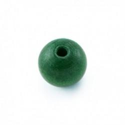 Perle en bois 10mm vert Emeraude