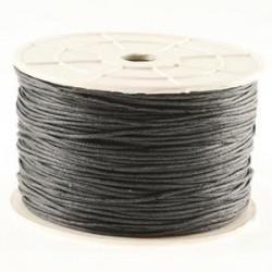 Coton ciré gris foncé 1 mm / 1M
