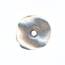 Disque métal argenté 25mm