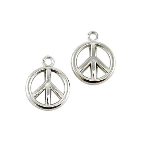 Pendentif résine peace and love +/- 15mm