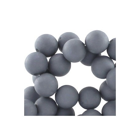 Perle en résine mat 10mm Gris T25