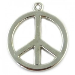 Pendentif résine peace and love +/- 30mm