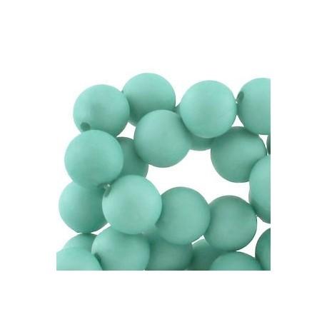 Perle en résine mat 10mm Turquoise Clair T23