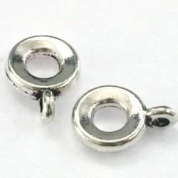 porte breloque rond métal 8mm avec anneau +-3mm