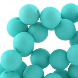 Perle en résine mat 10mm Turquoise vif T47