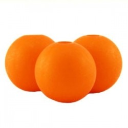 Perle en résine mat 10mm Orange Q607