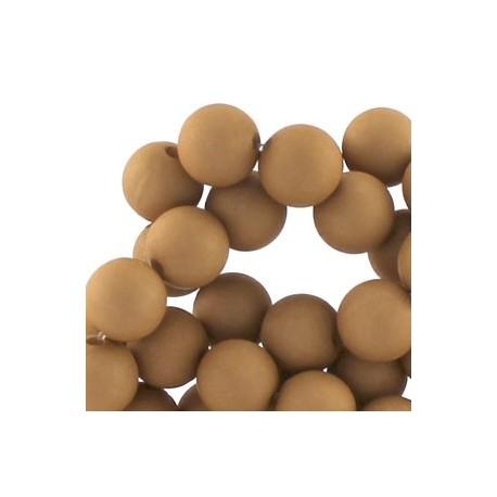 Perle en résine mat 10mm Cognac T35