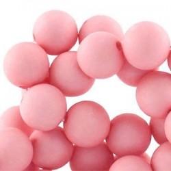 Perle en résine mat 10mm Rose T36