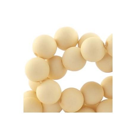 Perle en résine mat 10mm Crème Z139