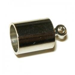 Embout Cloche métal 11X7mm plaqué rhodium