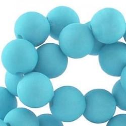 Perle en résine 12mm Bleu Lagon mat