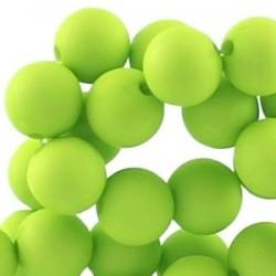 Perle en résine 12mm Vert Vif mat