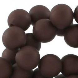 Perle en résine 12mm Brun Foncé mat Q05