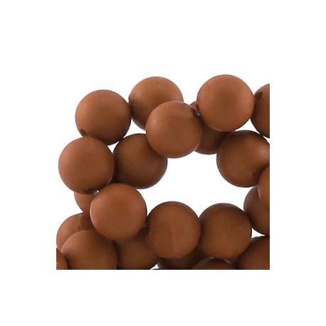 Perle en résine mat 10mm Brun Moyen T03