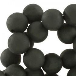 Perle en résine 12mm Anthracite mat Q33
