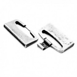 Fermoir plat métal H40x2.5mm+clip 10mm