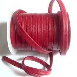 Cuir Napa Plat Rouge 5mm/10cm