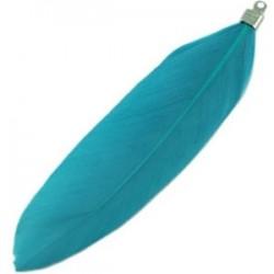 Plumes couleur Bleu Vif 8cm