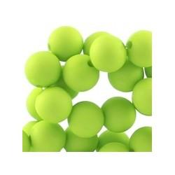 Perle en résine 10mm Vert Vif mat T12