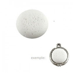 Cabochon rond Polaris Blanc 12mm