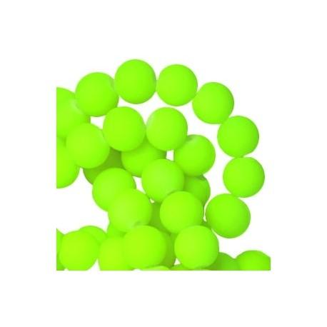 Perle en résine 8mm Vert Fluo Mat Z55
