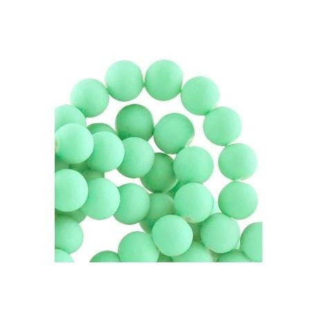 Perle en résine 8mm Vert Pastel Mat