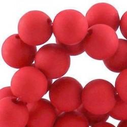 Perle en résine 10mm Rouge mat T39