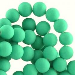 Perle en résine 8mm Vert Mat
