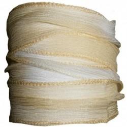 Ruban Soie Crème Blanc- 90cm