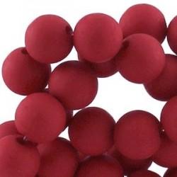 Perle en résine 10mm Rouge Foncé mat T22