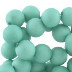 Perle en résine 6mm Bleu Gris mat