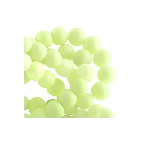 Perle en résine 8mm Lime Clair mat Z47