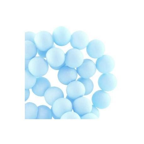 Perle en résine 8mm bleu ciel mat Z47