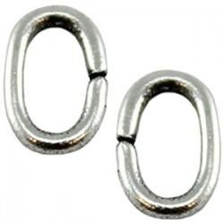 Anneau métal OVAL 10X7mm
