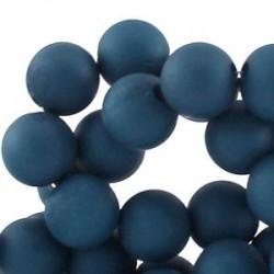 Perle en résine 10mm Bleu Gris T02