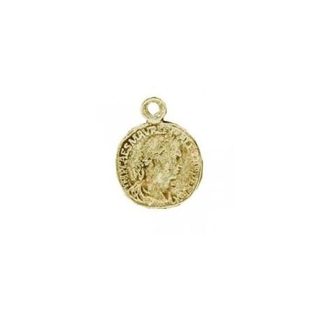 Pendentif Pièce monnaie métal bronze 20x15mm