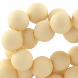 Perle en résine 6mm Beige mat